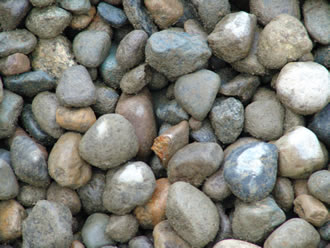 1 3 inch river rock phelps lawn gardenphelps lawn garden for Smooth stones for landscaping